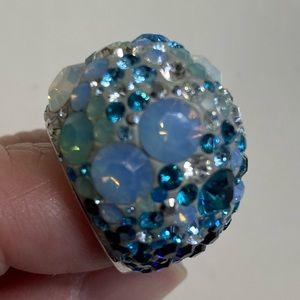 Swarovski ring Blue multicolored